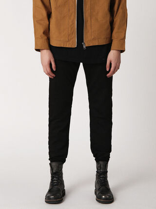 SLIM-CHINO-M JOGGJEANS 0686E, Black Jeans