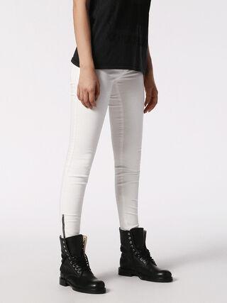 SKINZEE-LST-ZIP 084IQ, White Jeans