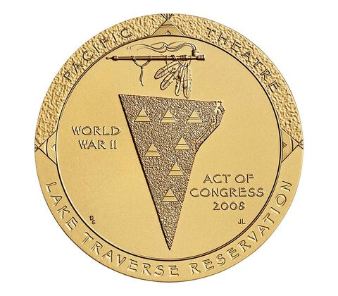 Sisseton Wahpeton Oyate (Sioux) Tribe Code Talkers Bronze Medal 3 Inch,  image 2