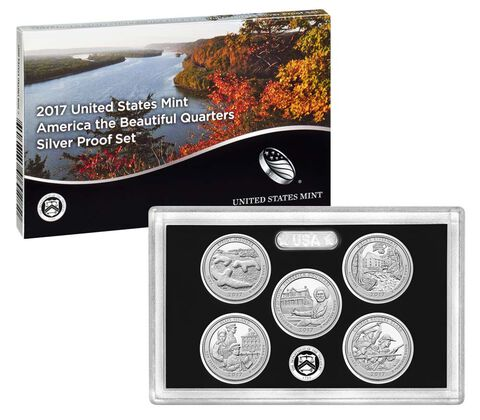 America the Beautiful Quarters 2017 Silver Proof Set,  image 2