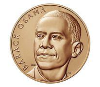 Barack Obama (First Term) Bronze Medal 1 5/16 Inch