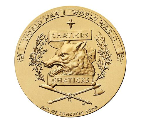 Pawnee Nation Tribe Code Talkers Bronze Medal 3 Inch,  image 2