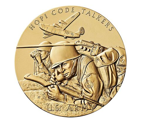 Hopi Tribe Code Talkers Bronze Medal 1.5 Inch