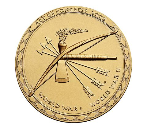Choctaw Nation Tribe Code Talkers Bronze Medal 3 Inch,  image 2