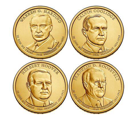 Presidential 2014 One Dollar Four-Coin Set