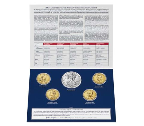 Annual Uncirculated Dollar Coin Set 2016,  image 2