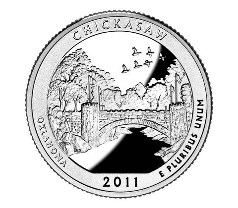 Chickasaw National Recreation Area 2011 Quarter, 3-Coin Set,  image 2