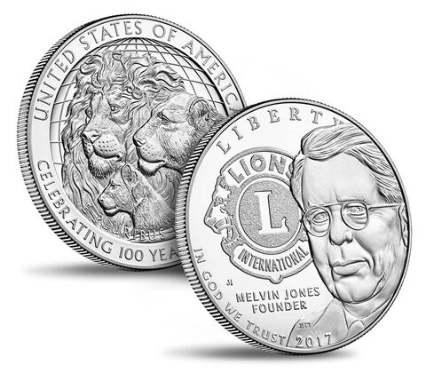 Lions Clubs International 2017 Centennial Proof Silver Dollar,  image 3