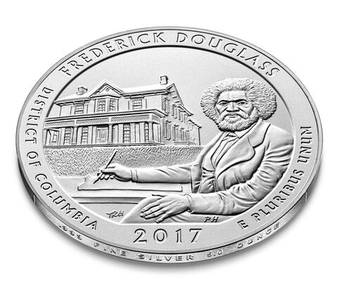 Frederick Douglass National Historic Site 2017 Uncirculated Five Ounce Silver Coin,  image 3