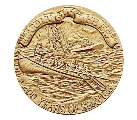 U.S. Coast Guard Bicentennial Bronze Medal 3 Inch
