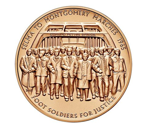1965 Selma to Montgomery Voting Rights Marches Bronze Medal 1.5 Inch