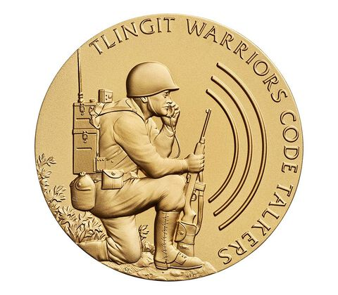 Tlingit Tribe Code Talkers Bronze Medal 3 Inch