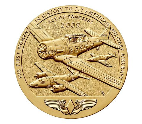 Women Airforce Service Pilots (WASP) Bronze Medal 3 Inch,  image 2