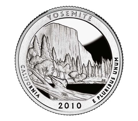 Yosemite National Park 2010 Quarter, 3-Coin Set,  image 2
