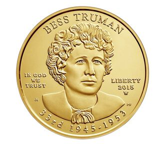 Bess Truman 2015 First Spouse Series One-Half Ounce Gold Uncirculated Coin
