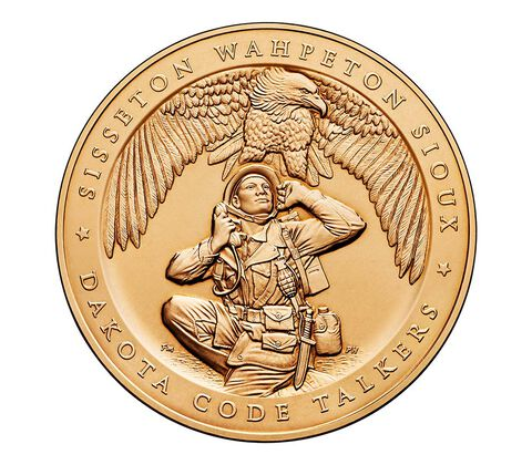 Sisseton Wahpeton Oyate (Sioux) Tribe Code Talkers Bronze Medal 1.5 Inch