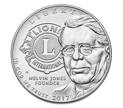 Lions Clubs International 2017 Centennial Uncirculated Silver Dollar