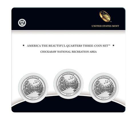 Chickasaw National Recreation Area 2011 Quarter, 3-Coin Set