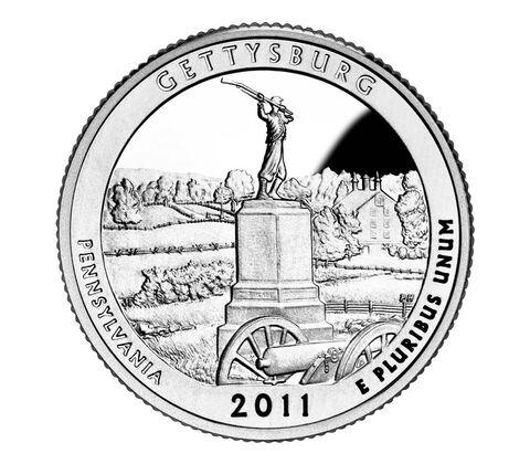 Gettysburg National Military Park 2011 Quarter, 3-Coin Set,  image 2