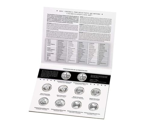 America the Beautiful Quarters 2011 Uncirculated Coin Set