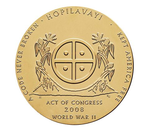 Hopi Tribe Code Talkers Bronze Medal 1.5 Inch,  image 2