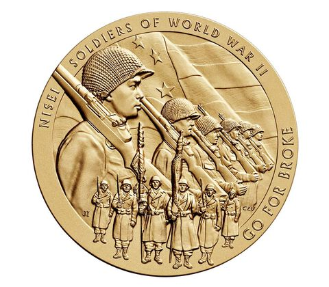 Nisei Soldiers of World War II Bronze Medal 3 Inch