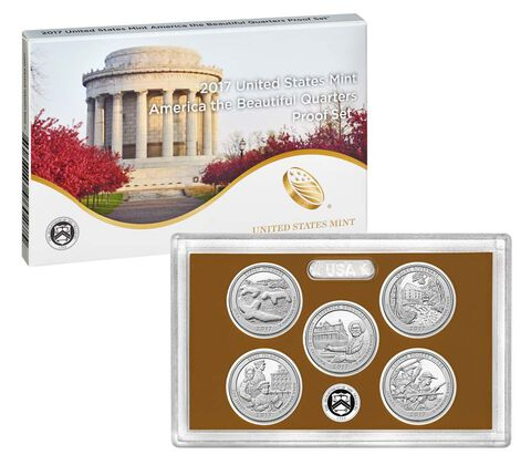 America the Beautiful Quarters 2017 Proof Set,  image 2