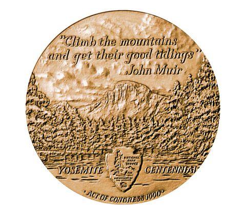 Yosemite National Park Centennial Bronze Medal 3 Inch,  image 2