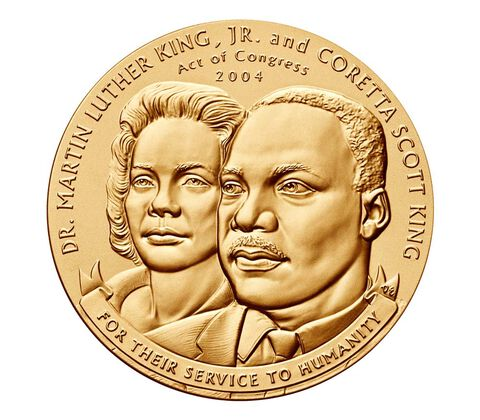 Dr. Martin Luther King, Jr. and Coretta Scott King Bronze Medal 3 inch