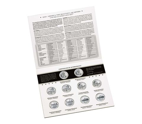 America the Beautiful Quarters 2010 Uncirculated Coin Set