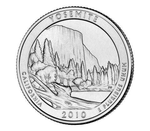 Yosemite National Park 2010 Quarter, 3-Coin Set,  image 3
