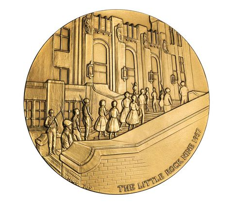 Little Rock Nine Bronze Medal 3 Inch