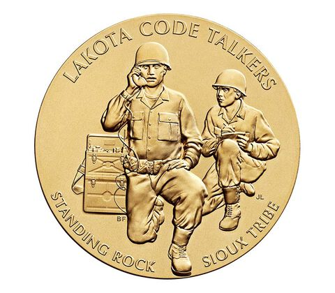 Standing Rock Sioux Tribe Code Talkers Bronze Medal 1.5 Inch