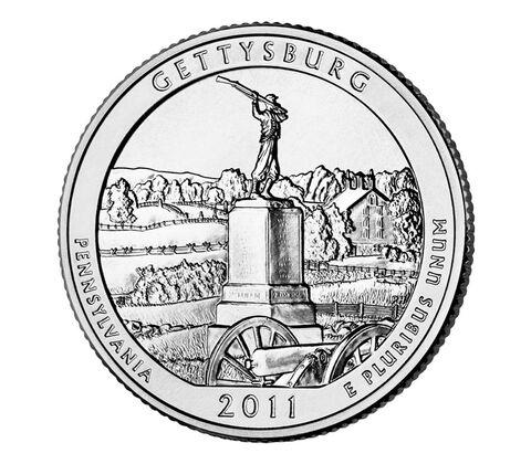 Gettysburg National Military Park 2011 Quarter, 3-Coin Set,  image 3