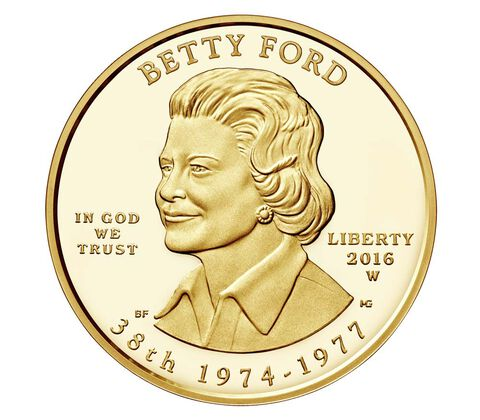 Betty Ford 2016 First Spouse Series One-Half Ounce Gold Proof Coin