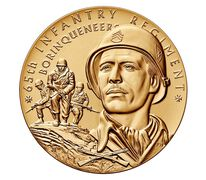 "65th Infantry Regiment ""Borinqueneers"" Bronze Medal 3 Inch"