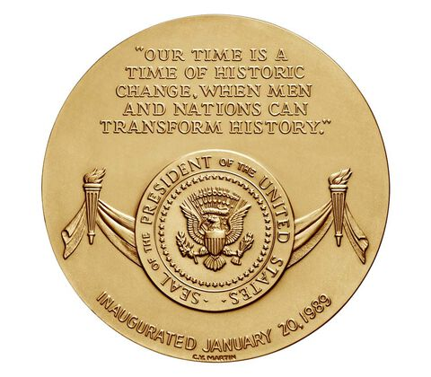 George Bush Bronze Medal 3 Inch,  image 2