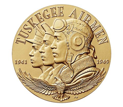 Tuskegee Airmen Bronze Medal 3 Inch