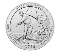 Fort Moultrie (Fort Sumter National Monument) 2016 Uncirculated Five Ounce Silver Coin