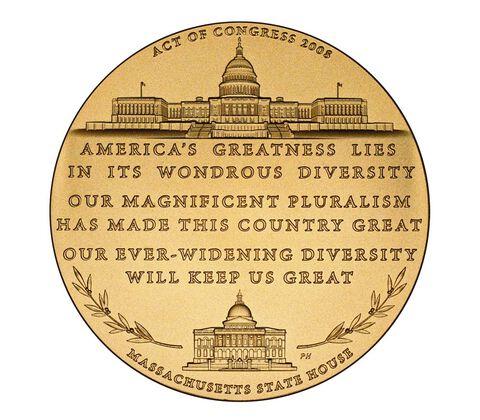 Senator Edward William Brooke III Bronze Medal 1.5 Inch,  image 2