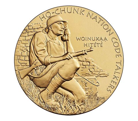 Ho-Chunk Nation Code Talkers Bronze Medal 3 Inch