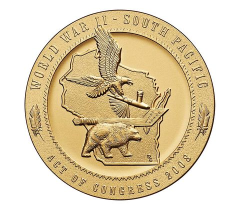 Ho-Chunk Nation Code Talkers Bronze Medal 1.5 Inch,  image 2