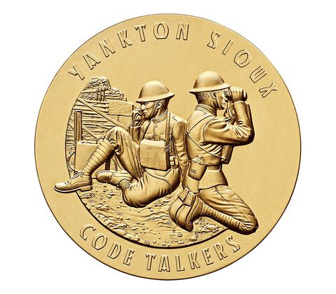 Yankton Sioux Tribe Code Talkers Bronze Medal 1.5 Inch