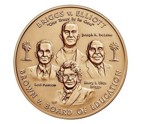 Brown vs. Board of Education Bronze Medal 1.5 Inch