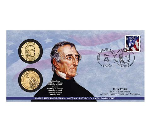 John Tyler 2009 One Dollar Coin Cover