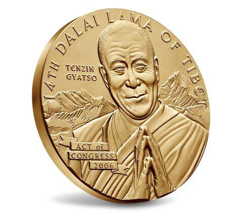 Dalai Lama Bronze Medal 3 Inch,  image 3