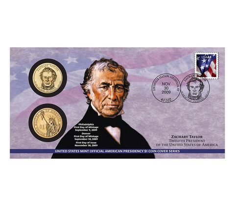 Zachary Taylor 2009 One Dollar Coin Cover