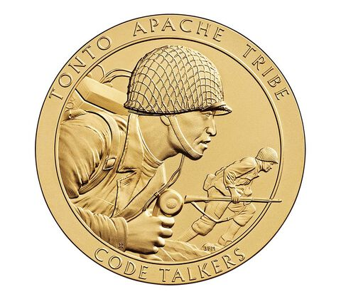 Tonto Apache Tribe Code Talkers Bronze Medal 1.5 Inch