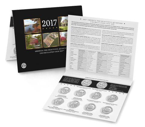 America the Beautiful Quarters 2017 Uncirculated Coin Set,  image 3