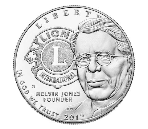 Lions Clubs International 2017 Centennial Proof Silver Dollar
